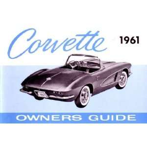 1961 CHEVROLET CORVETTE Owners Manual User Guide