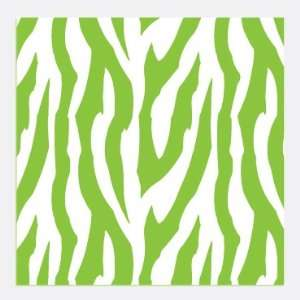 ZEBRA STRIPES PATTERN Lime Green and White Vinyl Decal Sheets 12x12