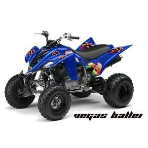 AMR Racing Yamaha Raptor 350 ATV Quad Graphic Kit   Vegas