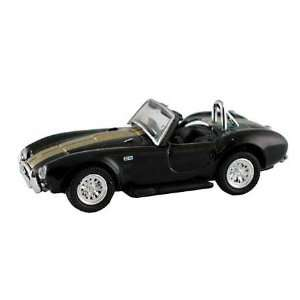 HO Die Cast 1965 Shelby Cobra,Black w/Gold Stripes Toys