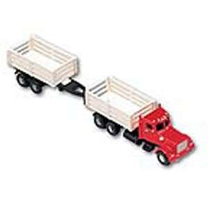 Cab Stake Bed w/Trailer, Red/White BLY204717 Toys & Games