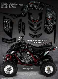 YAMAHA RAPTOR 660 660R GRAPHICS THE CALL OF DEATH BLK