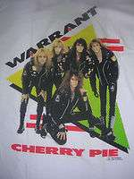 VINTAGE 1990 WARRANT ROCK BAND SHIRT BROCKUM CHERRY PIE