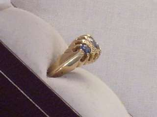ANTIQUE CHESTER 18CT GOLD SAPPHIRE DIAMOND LADIES RING