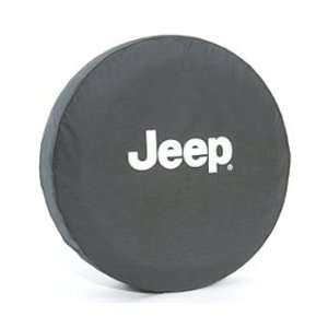 Jeep Wrangler Black Denim W/ Logo Spare Tire Cover 31 Inch