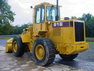1989 Caterpillar 916 Wheel Loader 4x4, Cab, Counterweights, GP Bucket