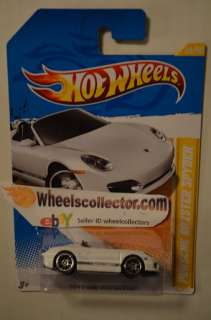 Porsche Boxster Spyder White * 2012 Hot Wheels * New M Case Premiere
