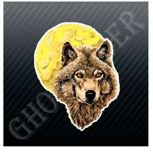 Wolf Moon Full Moon Car Trucks Sticker Decal Everything