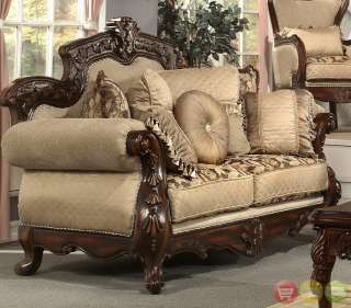 Antique Style Luxury Sofa, Love Seat, Chair & Table 4 Piece Set HD 296