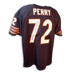 William Perry Autographed/Hand Signed Custom Blue Jersey with The