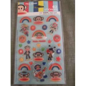 Paul Frank Julius the Monkey 62 Puffy Stickers Office