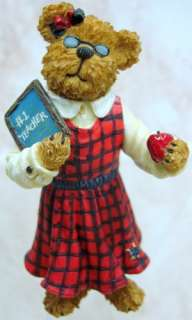BOYDS BEARS Miss Tuttle RESIN Apple TEACHER 1E 3264