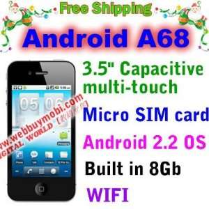 micro sim card wifi android 2.2 os built
