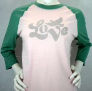 Lucky Brand T Shirt for Women 3/4 Sleeve Love
