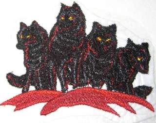 Red Night Wolf Pack Shadow Moon Wolves Iron on Patch