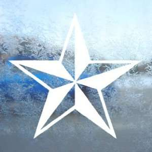 Nautical Star White Decal Car Laptop Window Vinyl White