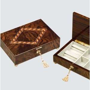 Giglio Italian Wooden Jewelry Box Rhomb or Frame Decor in