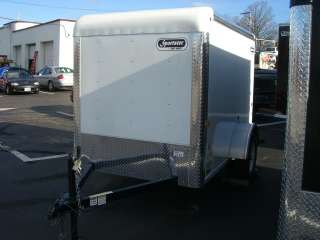 2012 5x8.5 CAR MATE SPORTSTER ENCLOSED CARGO TRAILER, SWING OUT DOOR