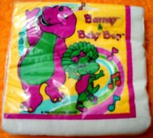 Barney the Dinosaur Napkins Birthday Party Supplies NEW MIP 1992