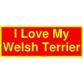I Love My Welsh Terrier Large Bumper Sticker Automotive