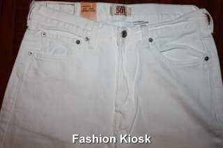 Levis 501 Original Straight WHITE Jeans 30 32 33 34 36