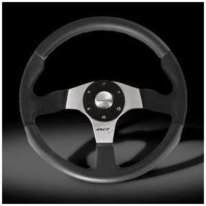 Momo Race Evo Alcantara Black Leather Steering Wheel