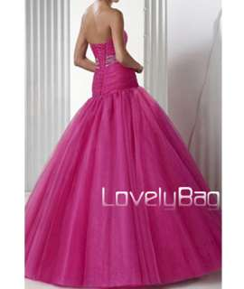 Pink Quinceanera Formal Party Gown Evening Prom Dress
