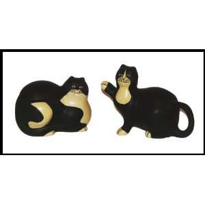 Warren Kimble Fat Tuxedo Cats Sugar & Creamer Set  Kitchen