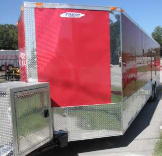 NEW 8.5 X 26 ENCLOSED MOTORCYCLE TRAILER CAR BIKE HAULER
