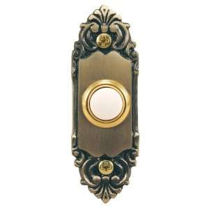 Antique Brass Decorative Style Lighted Doorbell Button