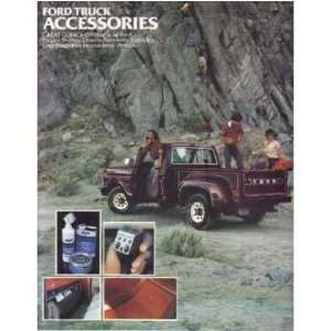 1979 FORD TRUCK Accessories Sales Brochure Book
