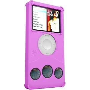 New Hot Pink Silicone Case & Speaker for iPod Nano 3Gen