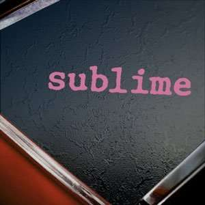 Sublime Pink Decal Rock Band Car Truck Window Pink Sticker