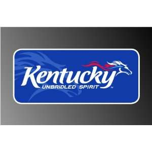 KENTUCKY UNBRIDLED DERBY HORSE SPIRIT DECAL STICKER 3x7