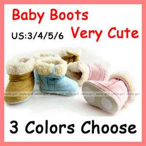 Unisex Infant Toddler Baby Shoes Fur Winter Snow Boots