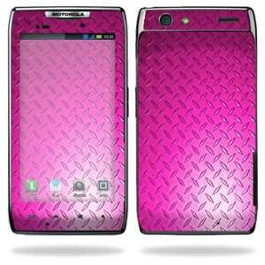 Razr Android Smart Cell Phone Skins   Pink Dia Plate Cell Phones