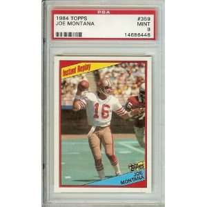 1984 Topps Joe Montana #359 PSA 9 Super Bowl year