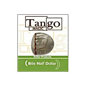 Bite Out Half Dollar Tango real coin money Magic trick