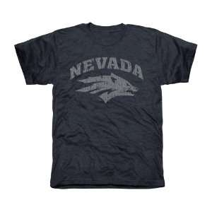 Nevada Wolf Pack Distressed Primary Tri Blend T Shirt