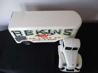 Smith Miller Mack Bekins Van Lines Toy Semi Truck and Trailer