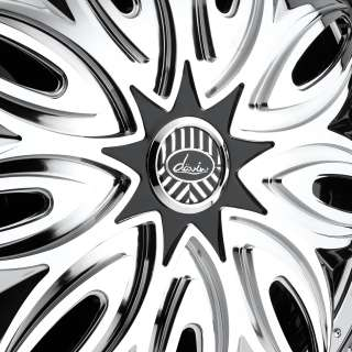 New Davin Spinners Trapstar 26 5x120 5x127 Chrome Rims Wheels dub