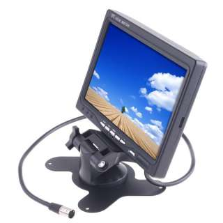 Color TFT LCD Car Rearview Monitor with 2 video input, works