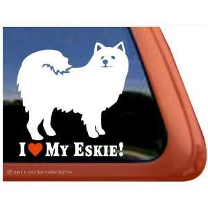 I Love My Eskie Dog Vinyl Window Decal Sticker Automotive