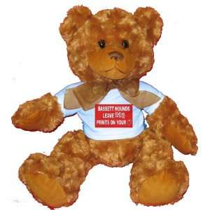 LEAVE PAW PRINTS ON YOUR HEART Plush Teddy Bear with BLUE T Shirt