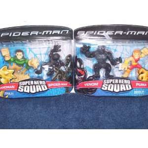 Spiderman Super Hero Squad Venom & Puma & Sandman & Spiderman