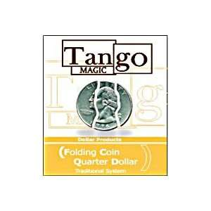 Folding Quarter Tango Coins Street Magic Tricks Money