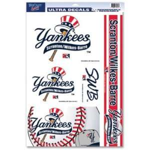 YANKEES OFFICIAL LOGO 11x17 ULTRA DECAL WINDOW CLING SET Sports