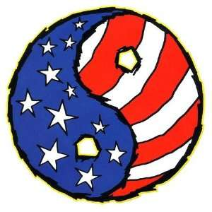 Jeral Tidwell   American Flag Yin Yang   Sticker / Decal