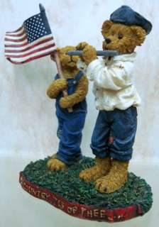 BOYDS BEARS Frances Proudbeary RESIN Flag 1E 4022167