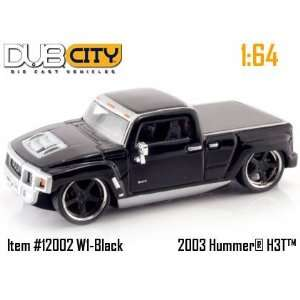 Jada Dub City Kustoms Black Hummer H3T 164 Scale Die Cast